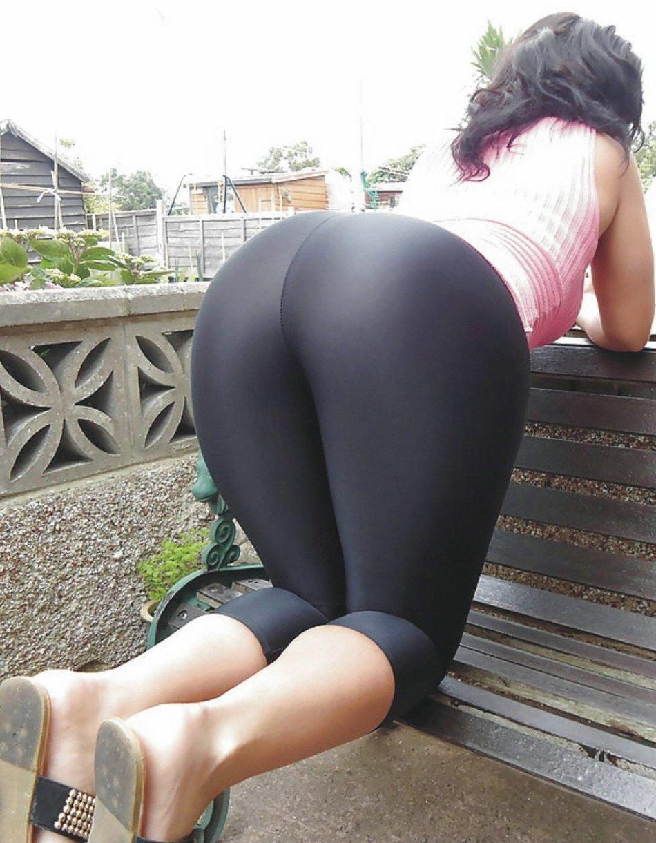 See through yoga pants public